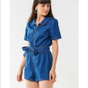 Urban Outfitters BDG Denim Romper with belt NWT